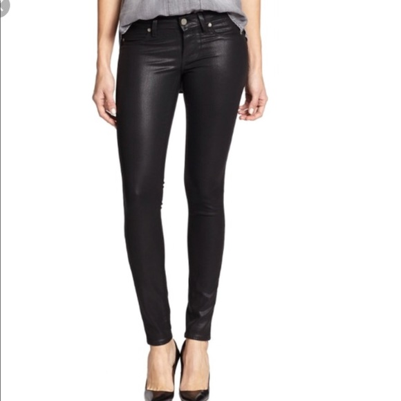 PAIGE Denim - Paige Margot Ankle Jeans In Coated Black